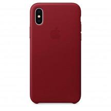 Apple iPhone X leren hoesje PRODUCT(RED)