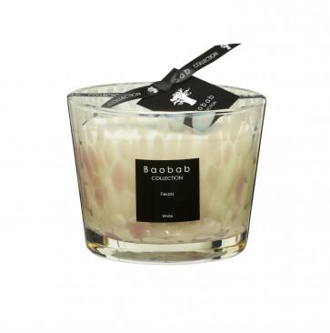 Baobab geurkaars white Pearls max 10