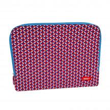 Bakker 13-inch laptop sleeve wit/blauw/rood