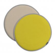 Vitra Seat Dot geel/pastelgroen - perkament/crème