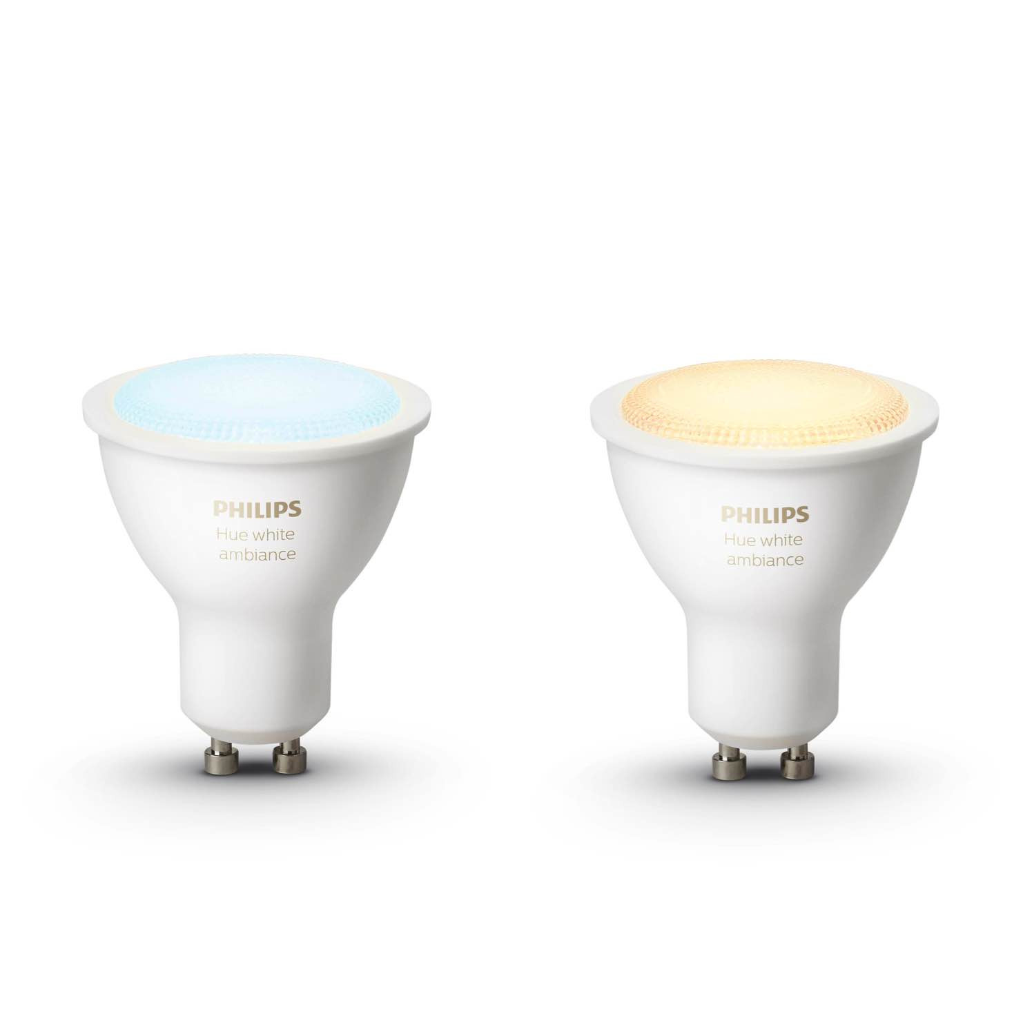 philips hue white ambiance gu10 lampen duopak. Black Bedroom Furniture Sets. Home Design Ideas