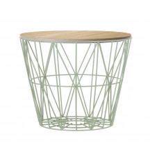 Ferm Living Wire Basket Table large munt