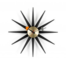 Vitra Sunburst Clock zwart/messing