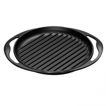 Le Creuset ronde grillpan zwart