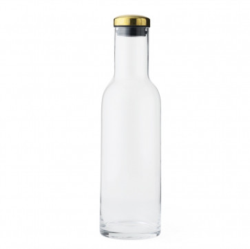 Menu waterfles karaf met brass stop