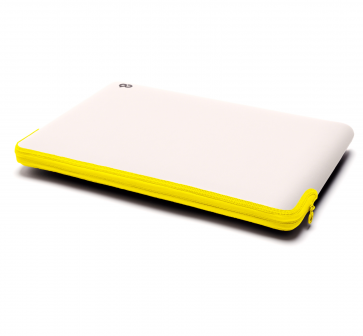 C6 Zip Sleeve 13-inch MacBook Pro stone/neon geel